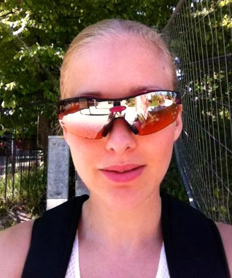 Jenny inför marathon