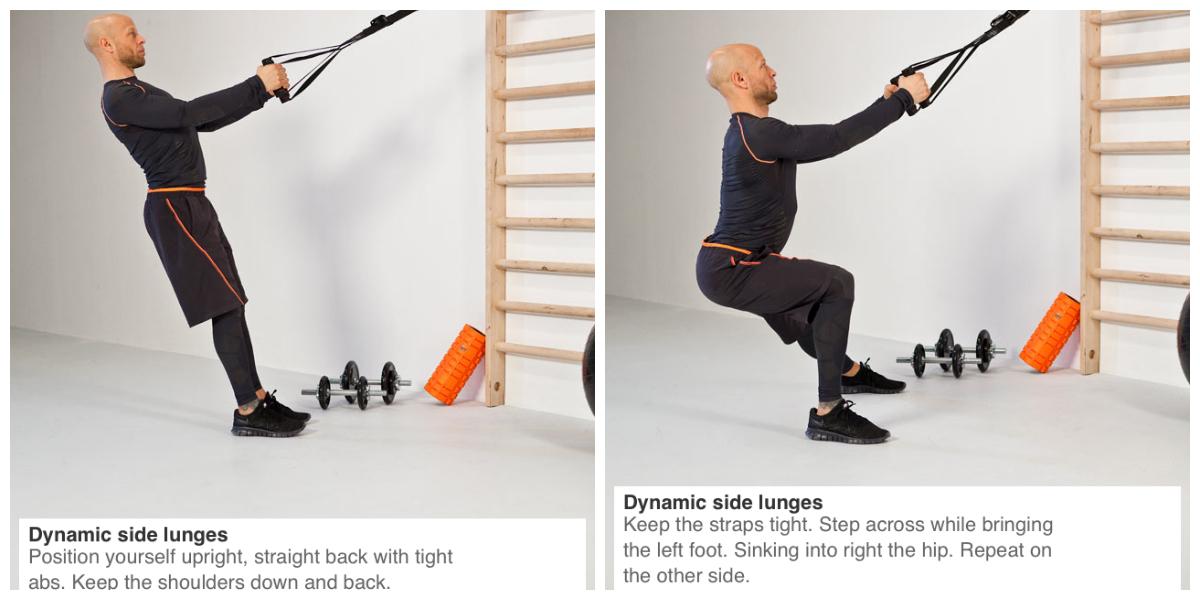 Dynamic side lunge